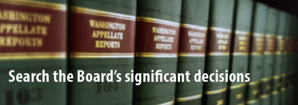 Search for significant decisions banner: image of a row of law books